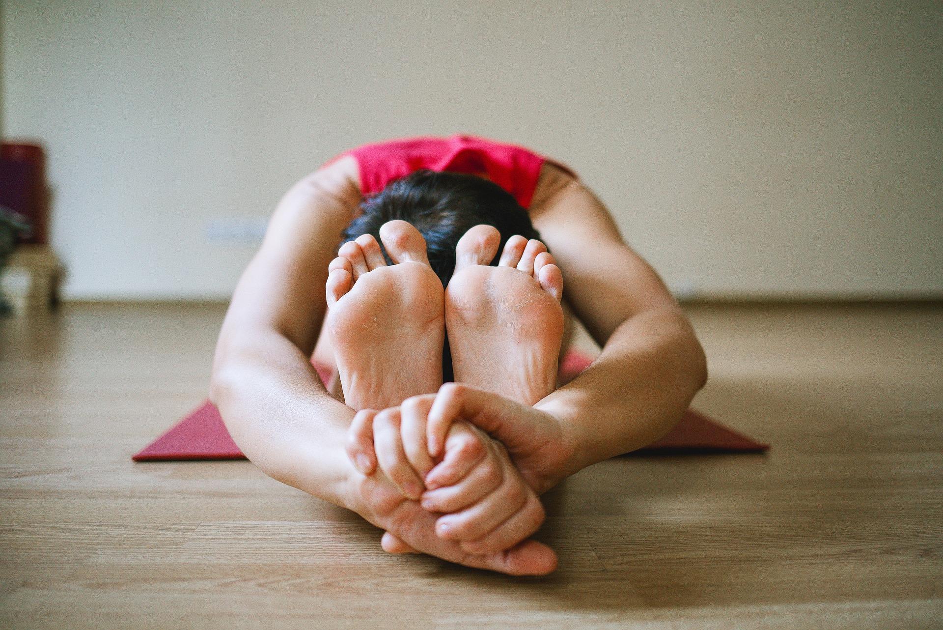 Forward bend in yoga
