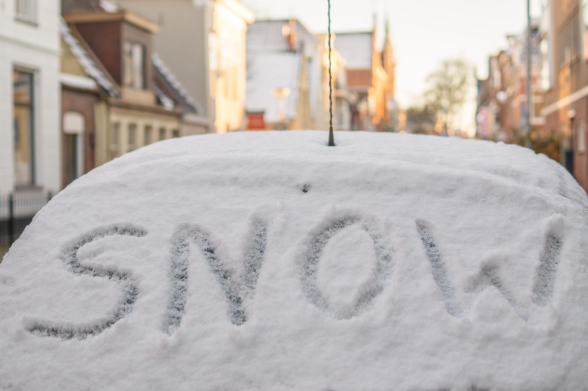 word on fallen snow
