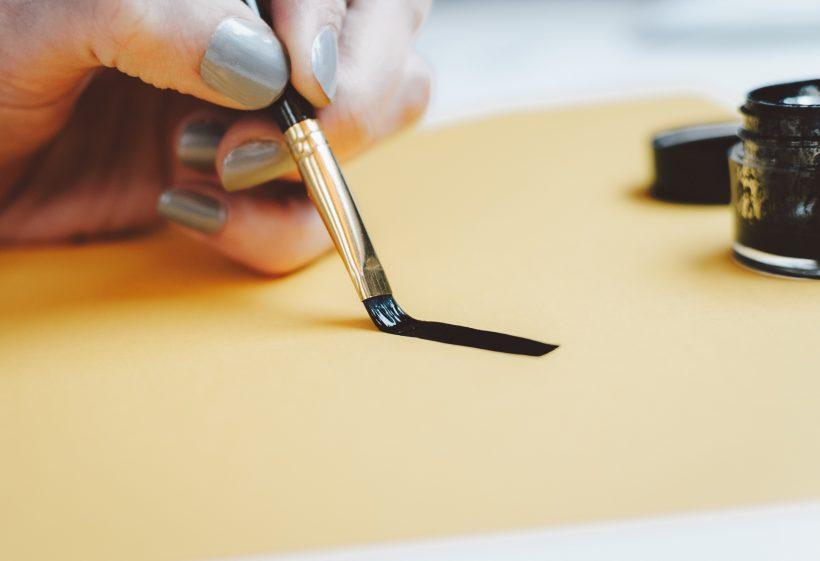 writing process using black ink