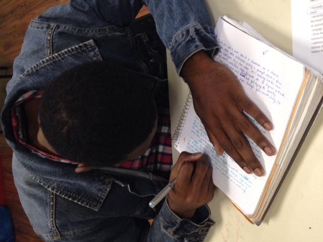 Student free-writing