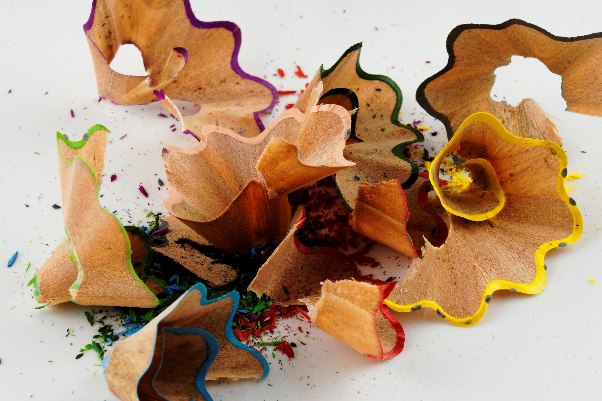 pencil shavings from free-writing